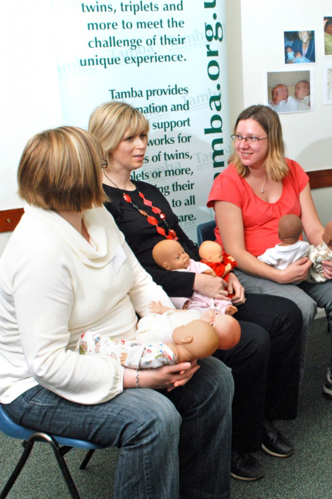 Loughton course discussing the challenges of looking after twins and triplets